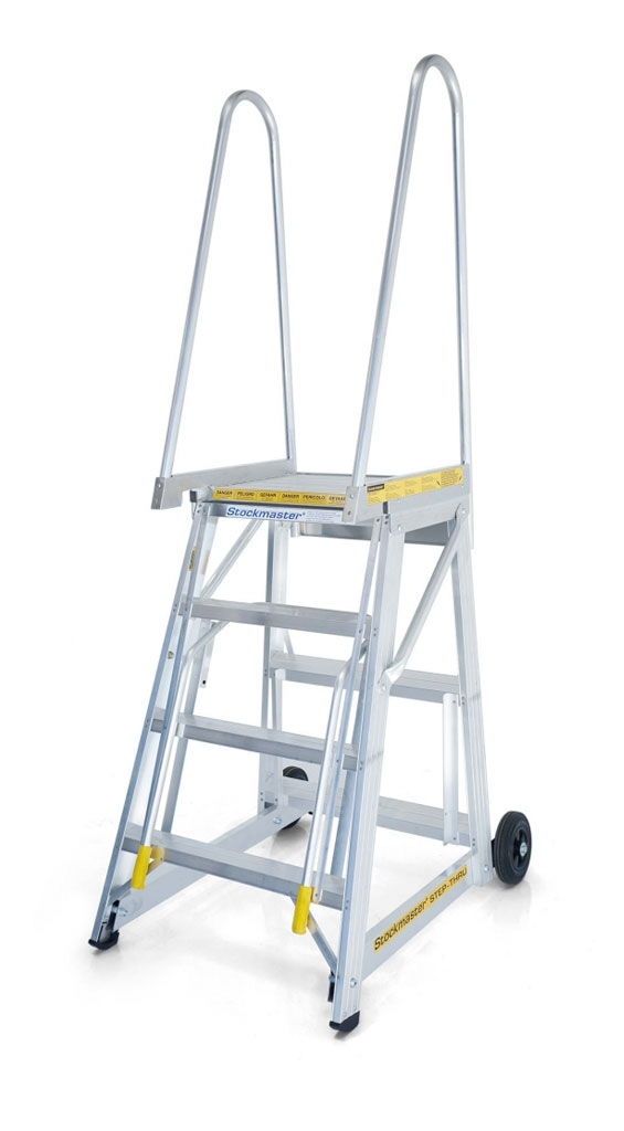 Product selection - StockMaster Step-Thru mobile access steps for containers and mezzanines.