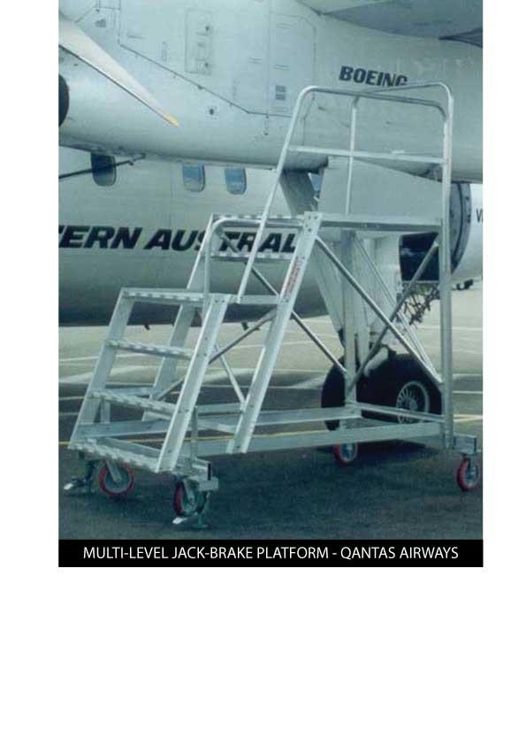 Custom Manufacturing Service - Multi-level Jack Brake Platform - Qantas Airways