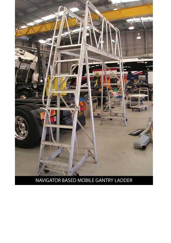 Custom Manufacturing Service - Navigator based Mobile Gantry Ladder