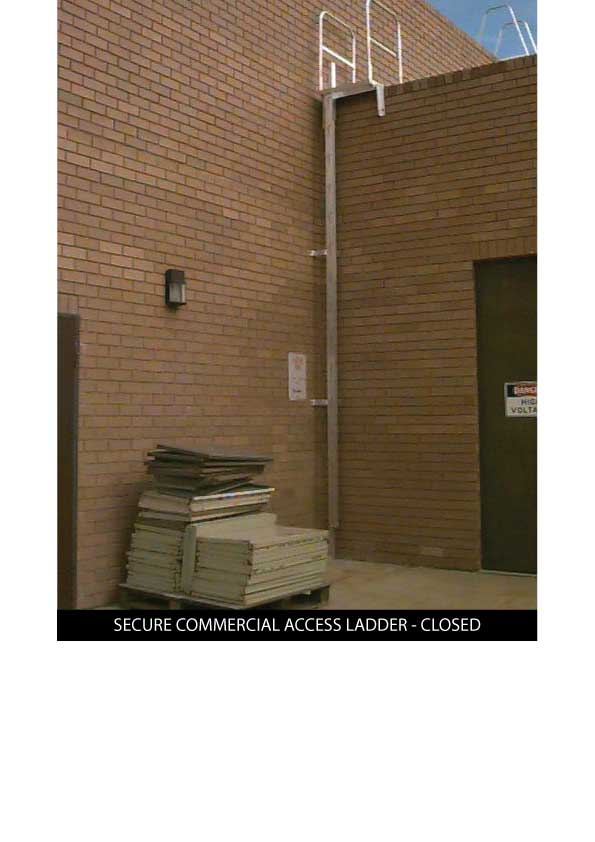 Custom Manufacturing Service - Secure Commercial Access Ladder - in closed position
