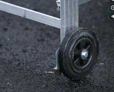 With two large diameter wheels Tracker moves easily over sealed and unsealed surfaces.