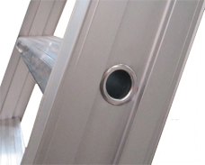 SureFoot features a wide stile with a tube reinforced step for maximum strength